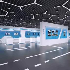 现代风格科技展厅3D模型【ID:952879710】