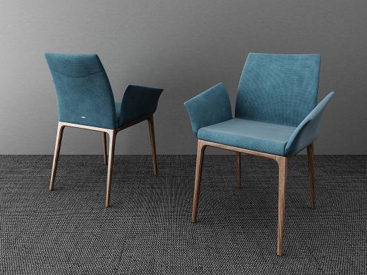 北欧餐椅3D模型【ID:736213165】