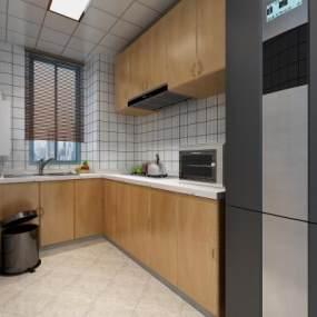现代厨房3D模型【ID:531479345】