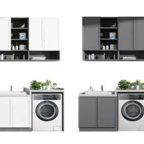 现代阳台洗衣柜3D模型【ID:152871817】