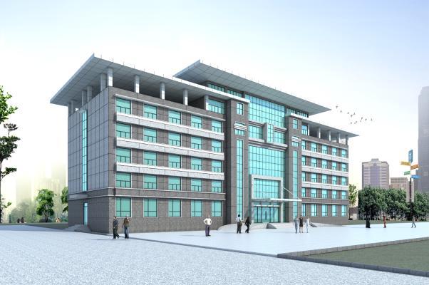 现代五层办公楼3D模型【ID:144651373】