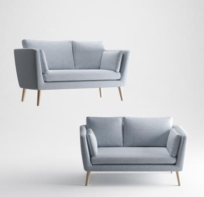 北歐雙人沙發3D模型【ID:645778527】