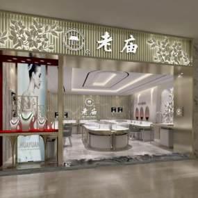 现代黄金珠宝专卖店3D模型【ID:933130883】