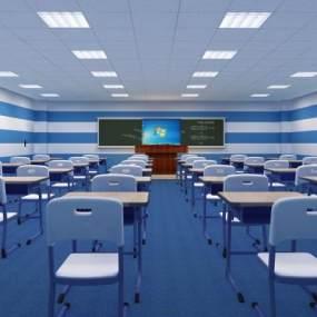 现代教室3D模型【ID:930876609】