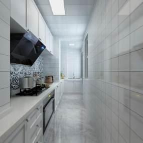 现代厨房3D模型【ID:533784303】