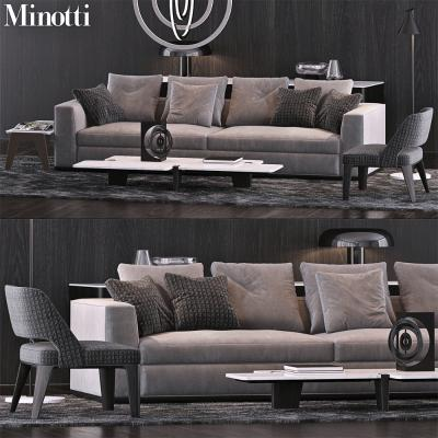 现代室内沙发国外3D模型【ID:632081719】