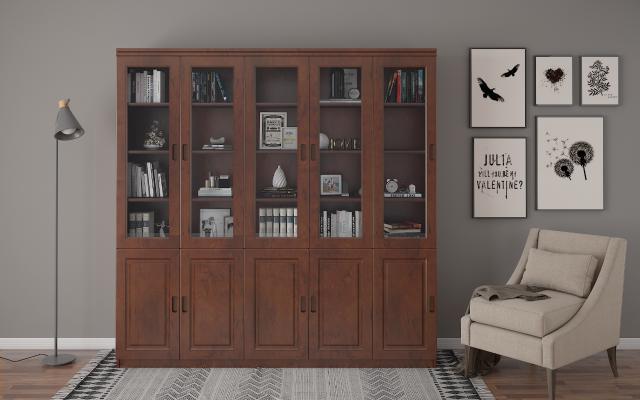 书柜3D模型【ID:136163508】