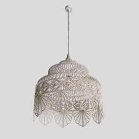 现代吊灯3D模型【ID:743455831】