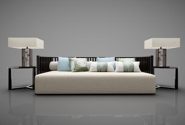 新中式风格沙发3D模型【ID:644697693】