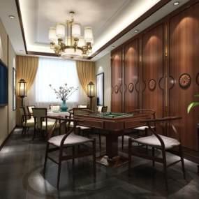新中式茶楼3D模型【ID:634221622】