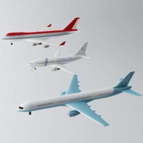 现代飞机3D模型【ID:452858968】