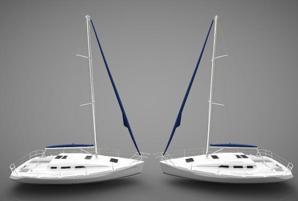 現代風格小船3D模型【ID:443145833】