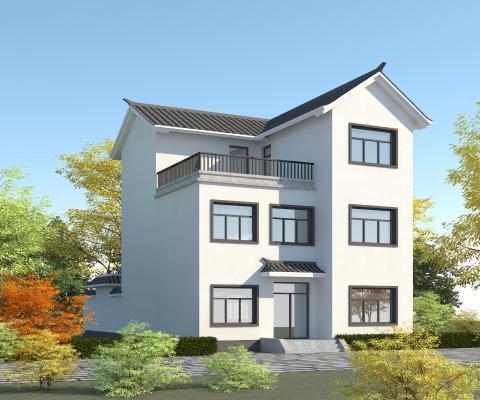 新中式传统民房3D模型【ID:151319347】