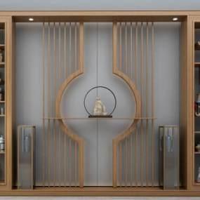 新中式装饰柜3D模型【ID:134719148】
