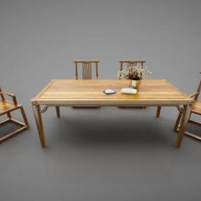 新中式风格茶桌3D模型【ID:844347809】