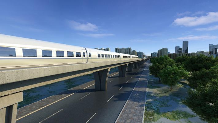 现代中国高铁3D模型【ID:432496763】