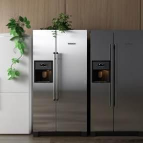 现代家用电器冰箱冰柜3D模型【ID:431330503】