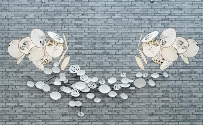 中式吊燈飾品組合3D模型【ID:730623868】