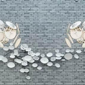 中式吊灯饰品组合3D模型【ID:730623868】