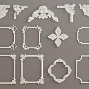 欧式石膏雕刻3D模型【ID:343519403】