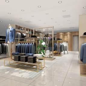 现代服装店3D模型【ID:934804883】