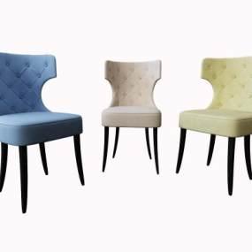 美式餐椅3D模型【ID:732196153】