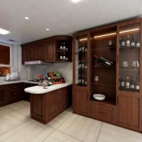 現代櫥柜酒柜 3D模型【ID:136229724】