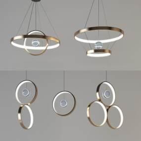 現代吊燈組合3D模型【ID:748611896】