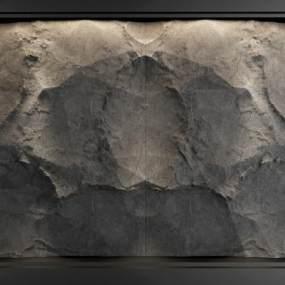 现代石材背景墙3D模型【ID:253656737】