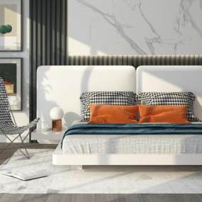 现代卧室3D模型【ID:653724117】
