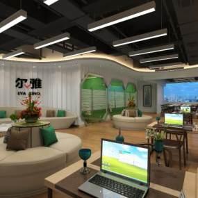 办公大厅 3D模型【ID:941577059】