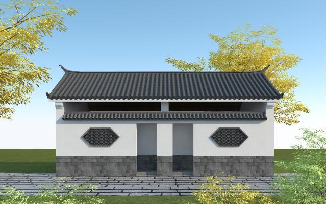 中式公厕3D模型【ID:146096986】