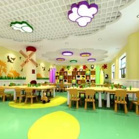 现代幼儿园3D模型【ID:936204654】