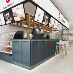 北歐風格奶茶店3D模型【ID:647870467】