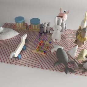 现代玩具3D模型【ID:352700468】