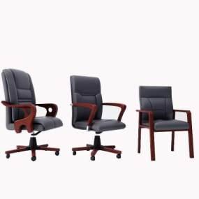 现代经典办公椅3D模型【ID:744264496】