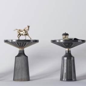 现代金属茶几装饰品3D模型【ID:633329815】