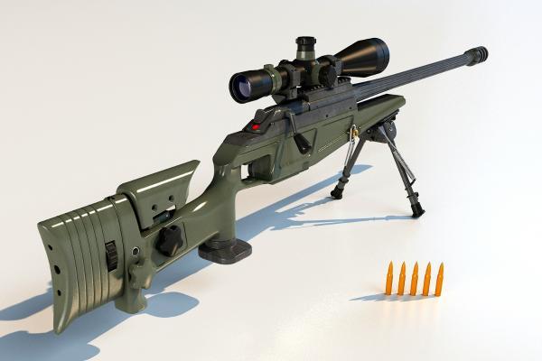 狙擊步槍3D模型【ID:440631267】