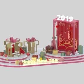 北欧欧式圣诞婚礼美陈3D模型【ID:242721595】