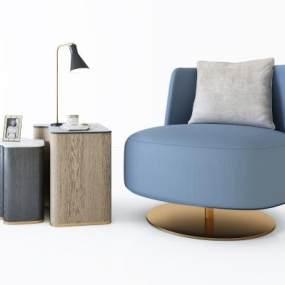 现代沙发角几组合3D模型【ID:636028807】