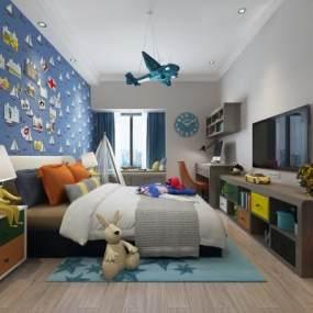 现代儿童房3D模型【ID:533779790】