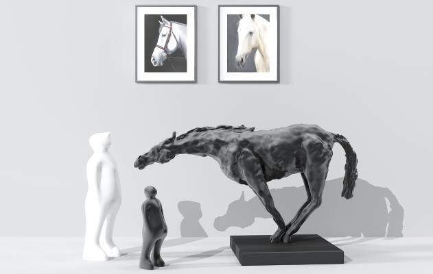 现代装饰摆件组合3D模型【ID:253206536】