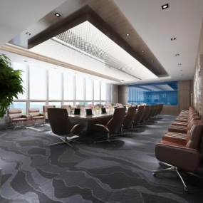 现代大会议室3D模型【ID:947038100】
