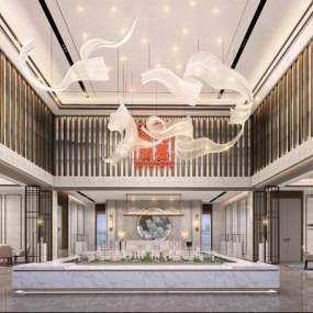 新中式售楼处3D模型【ID:943955603】