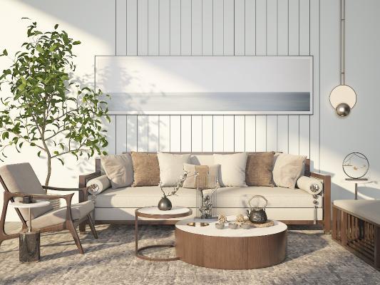 现代沙发3D模型【ID:648990718】