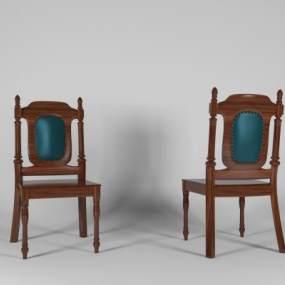 美式餐椅3D模型【ID:733019153】