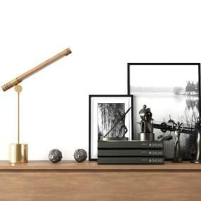 现代玄关边柜装饰摆件组合 3D模型【ID:141292044】
