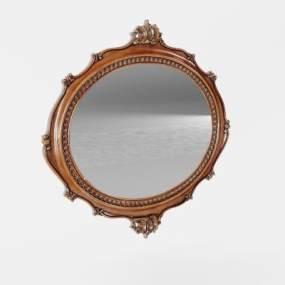 欧式化妆镜3D模型【ID:632359396】