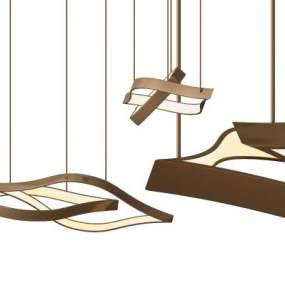 后现代金属吊灯 3D模型【ID:742351835】