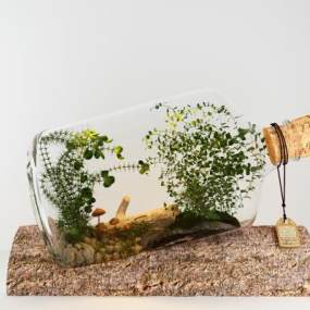 现代小清新植物装饰3D模型【ID:235807815】